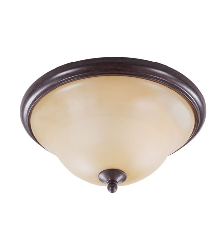 Golden Lighting Twirl 2 Light Flush Mount in Peppercorn 8013-FM-PC photo