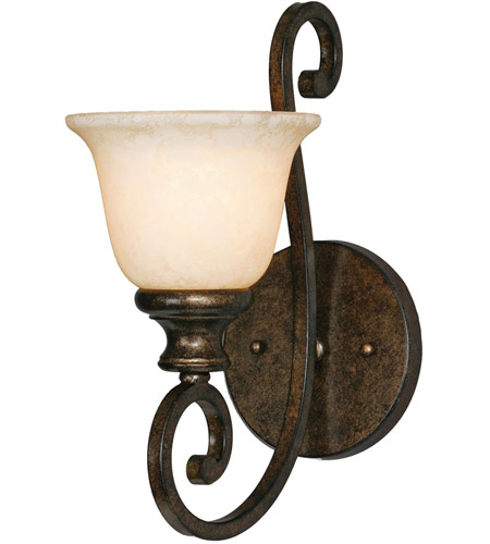 Golden Lighting 8063-1W-BUS Heartwood 1 Light 7 inch Burnt Sienna Wall Sconce Wall Light photo
