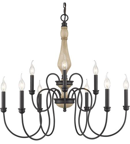 Golden Lighting 8314 9 Nb Suzette Light 30 Inch Natural Black Chandelier Ceiling