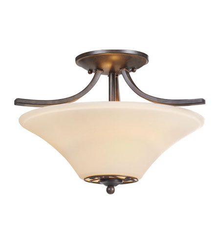 Golden Lighting Treille 2 Light Semi-Flush Mount in Peppercorn 8989-SF-PC photo