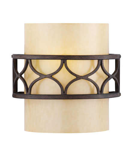 Golden Lighting Cercado 1 Light Sconce in Corsini Bronze 9018-1W-COB photo