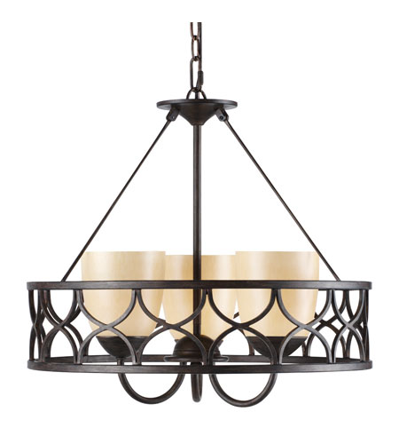 Golden Lighting Cercado 3 Light Mini Chandelier in Corsini Bronze 9018-3P-COB photo