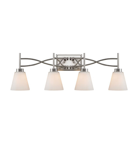 Golden Lighting Taylor 4 Light Bath Fixture in Pewter with Opal Shade 9106-BA4-PW photo