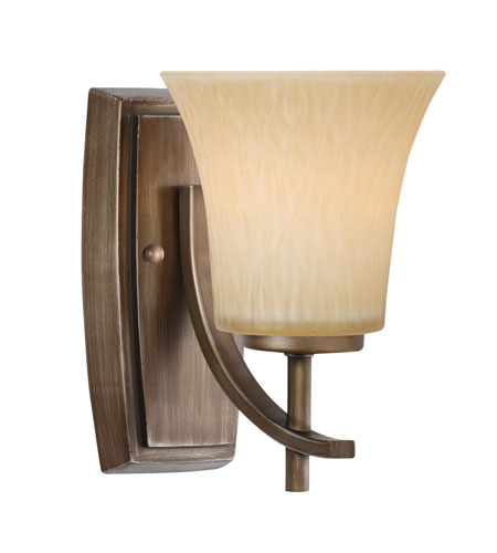 Golden Lighting Loraine 1 Light Sconce in Silvered Taupe 9114-BA1-ST photo