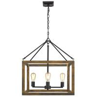 Golden Lighting 0270-4-BLK Sutton 4 Light 21 inch Black Chandelier Ceiling Light
