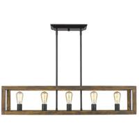 Golden Lighting 0270-LP-BLK Sutton 5 Light 41 inch Black Linear Pendant Ceiling Light