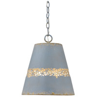 Golden Lighting 0803-M-CLB Isabel 1 Light 12 inch Colonial Blue Pendant Ceiling Light
