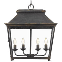 Golden Lighting 0804-4P-ABI Abingdon 4 Light 21 inch Antique Black Iron Pendant Lantern Ceiling Light photo thumbnail