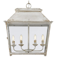 Abingdon 4 Light 21 inch Antique Ivory Pendant Lantern Ceiling Light