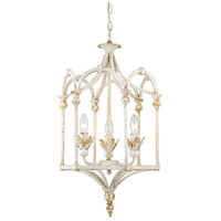 Golden Lighting 0821-3P-AI Medici 3 Light 15 inch Antique Ivory Caged Foyer Light Ceiling Light