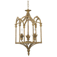 Golden Lighting 0821-3P-BC Medici 3 Light 15 inch Burnished Chestnut Caged Foyer Light Ceiling Light