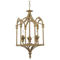 Golden Lighting 0821-3P BC Medici 3 Light 15 inch Burnished Chestnut Foyer Chandelier Ceiling Light, Caged