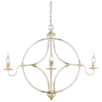 Golden Lighting 0830-4-AI Caspian 4 Light 33 inch Antique Ivory Caged Foyer Light Ceiling Light