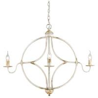 Golden Lighting 0830-4-AI Caspian 4 Light 33 inch Antique Ivory Caged Foyer Light Ceiling Light