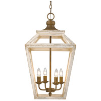 Golden Lighting 0839-4P-BC Haiden 4 Light 16 inch Burnished Chestnut Caged Foyer Light Ceiling Light