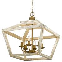 Golden Lighting 0839-6 BC Haiden 6 Light 23 inch Burnished Chestnut Pendant Ceiling Light