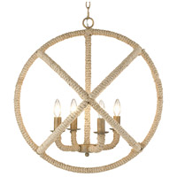 Golden Lighting 0868-4-BC Marina 4 Light 23 inch Burnished Chestnut Caged Foyer Light Ceiling Light