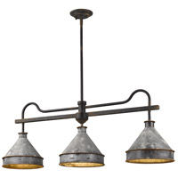 Golden Lighting 0877-LP ABI-GV Jasper 3 Light 41 inch Antique Black Iron Island Light Ceiling Light