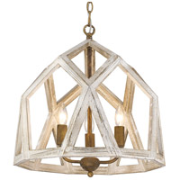 Golden Lighting 0881-3P BC Asher 3 Light 18 inch Burnished Chestnut Pendant Ceiling Light