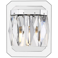 Golden Lighting 1025-BA1-CH Krysta LED 5 inch Chrome Bath Fixture Wall Light in 1