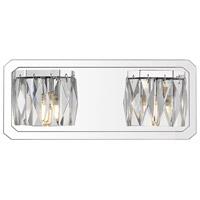 Golden Lighting 1025-BA2 CH Krysta LED 13 inch Chrome Bath Fixture Wall Light in 2