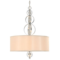 Cerchi 3 Light 22 inch Chrome Pendant Ceiling Light, Drum
