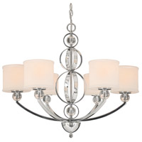 Cerchi 6 Light 29 inch Chrome Chandelier Ceiling Light