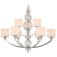 Golden Lighting Cerchi 9 Light Chandelier in Chrome with Etched Opal Glass 1030-9-CH alternative photo thumbnail