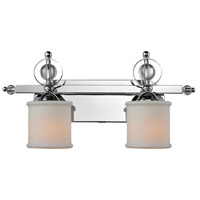 Golden Lighting Cerchi 2 Light Bath Fixture in Chrome with Etched Opal Glass 1030-BA2-CH alternative photo thumbnail