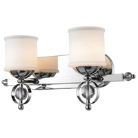 Golden Lighting Cerchi 2 Light Bath Fixture in Chrome with Etched Opal Glass 1030-BA2-CH