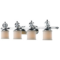 Golden Lighting Cerchi 4 Light Bath Fixture in Chrome with Etched Opal Glass 1030-BA4-CH alternative photo thumbnail
