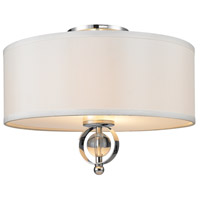 Cerchi 2 Light 15 inch Chrome Flush Mount Ceiling Light