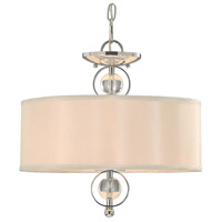 Golden Lighting Cerchi 2 Light Convertible Semi-Flush in Chrome with Opal Satin Shade 1030-SF-CH