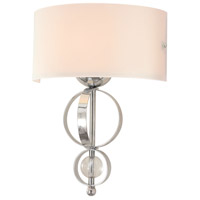Golden Lighting Cerchi 1 Light Wall Sconce in Chrome 1030-WSC-CH