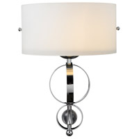 Golden Lighting Cerchi 1 Light Wall Sconce in Chrome with Opal Satin Shade 1030-WSC-CH