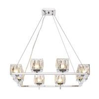 neeva 8 light 27 inch chrome chandelier ceiling light