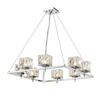 Golden Lighting Neeva 8 Light Chandelier in Chrome 1035-8-CH