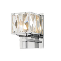 Golden Lighting Neeva 1 Light Bath Vanity in Chrome 1035-BA1-CH