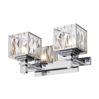 Neeva 2 Light 12 inch Chrome Bath Vanity Wall Light