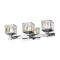Golden Lighting Neeva 3 Light Bath Vanity in Chrome 1035-BA3-CH