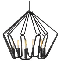Golden Lighting 1039-6P NB Corbin 6 Light 26 inch Natural Black Pendant Ceiling Light