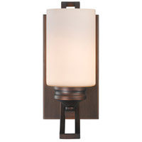 Hidalgo 1 Light 5 inch Sovereign Bronze Bath Vanity Wall Light in Opal Glass
