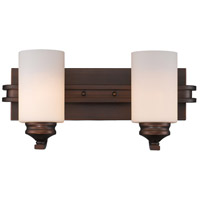 Golden Lighting Hidalgo 2 Light Bath Vanity in Sovereign Bronze 1051-BA2-SBZ-OP