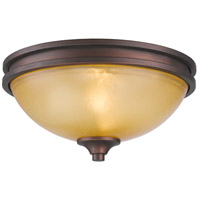 Golden Lighting 1051-FM-SBZ Hidalgo 2 Light 13 inch Sovereign Bronze Flush Mount Ceiling Light alternative photo thumbnail