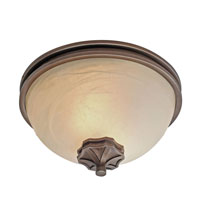 Golden Lighting Sterne 2 Light Flush Mount in Silvered Taupe 1054-FM-ST alternative photo thumbnail