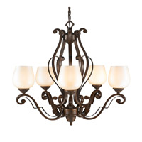 Golden Lighting Pemberly Court 5 Light Chandelier in Russet Bronze 1089-5-RSB-PRL