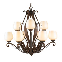 Golden Lighting Pemberly Court 9 Light Chandelier in Russet Bronze 1089-9-RSB-PRL