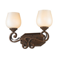 Golden Lighting Pemberly Court 2 Light Bath Vanity in Russet Bronze 1089-BA2-RSB-PRL