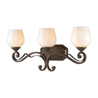 Golden Lighting Pemberly Court 3 Light Bath Vanity in Russet Bronze 1089-BA3-RSB-PRL