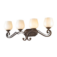 Golden Lighting Pemberly Court 4 Light Bath Vanity in Russet Bronze 1089-BA4-RSB-PRL